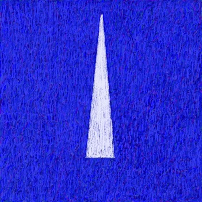 Bob Schrei painting Blue Light