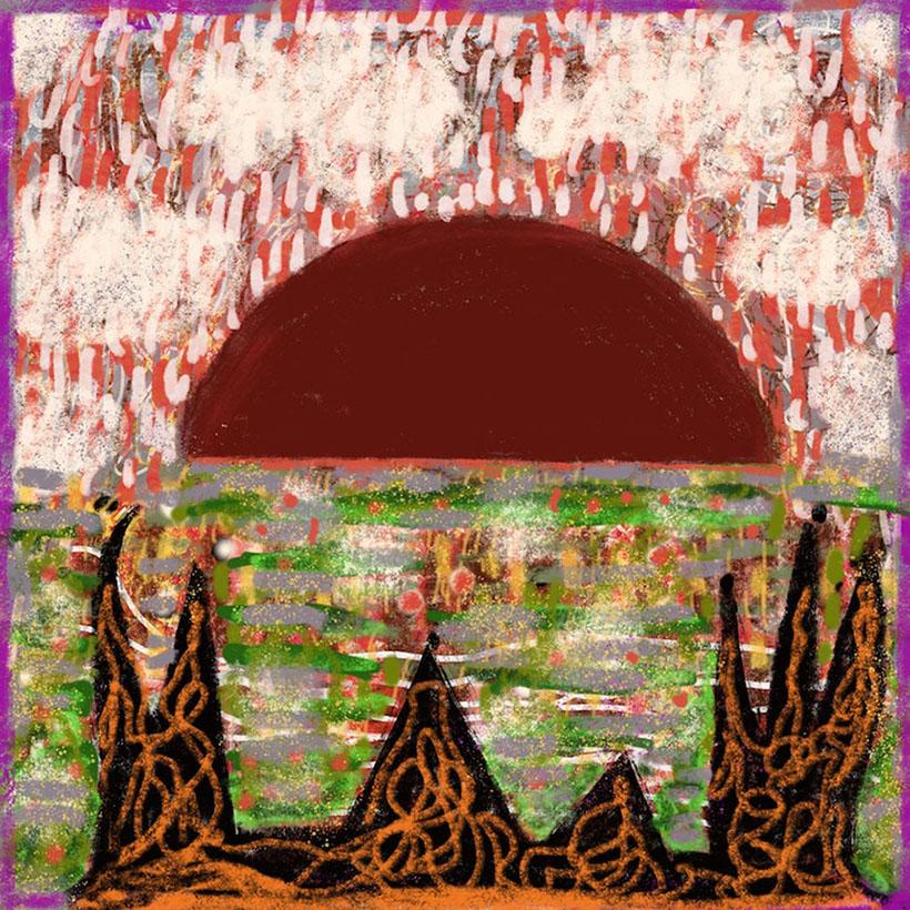 Fire on the Mountain Robert Schrei drawing