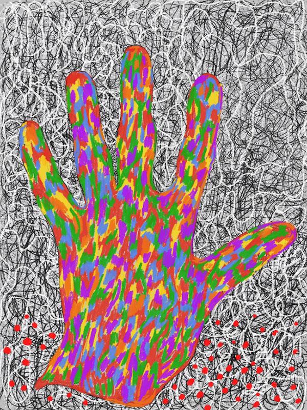 Hand of God Robert Schrei drawing