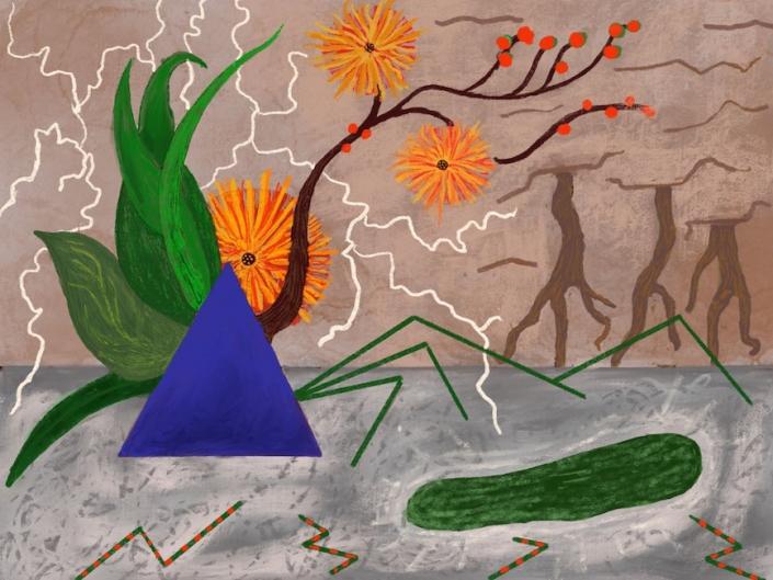 Ikebana 1 Robert Schrei drawing