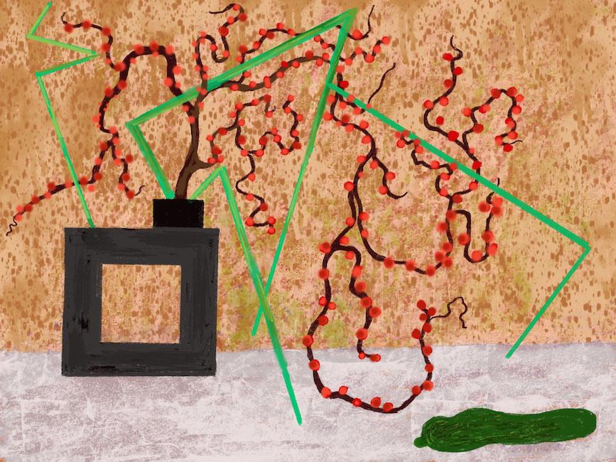 Ikebana 2 Robert Schrei drawing