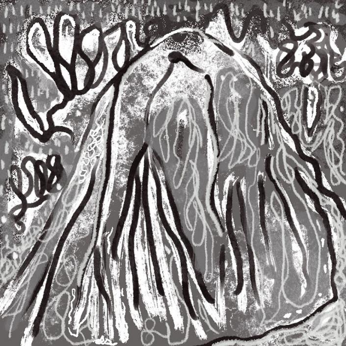 Mountain Robert Schrei drawing